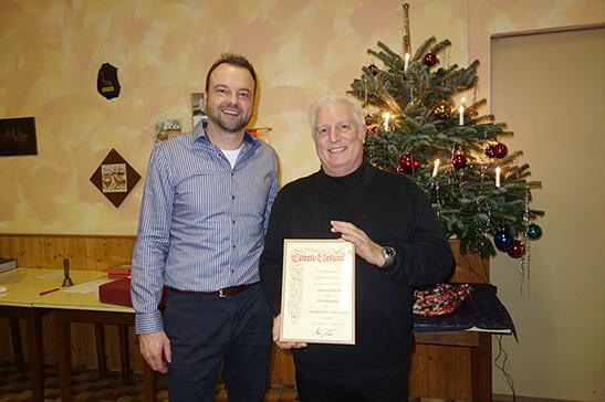 Karl Schmälzle wurde zum Ehrenmitglied ernannt.